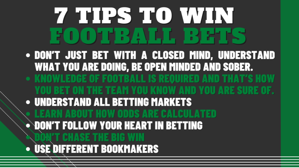 7 Tips to win football bets