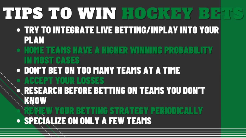 7 Tips to Win Hockey Bets