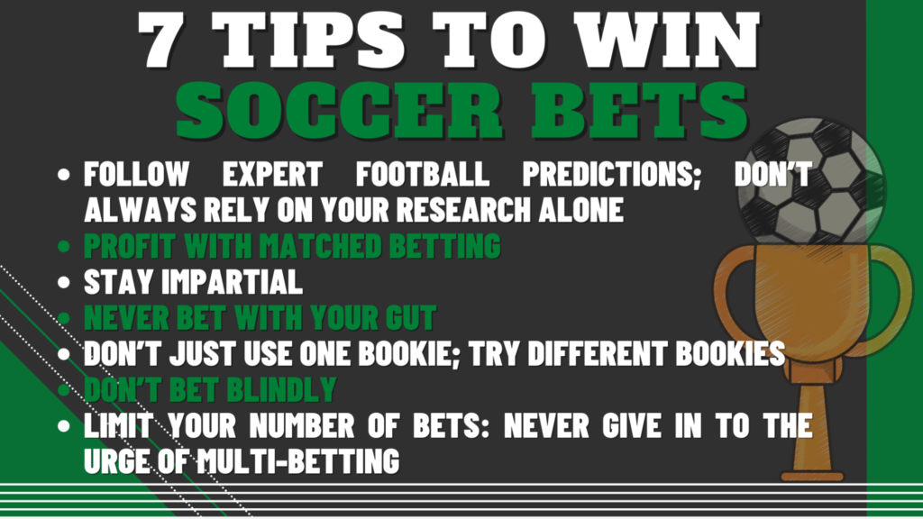 7 Tips To Win Soccer Bets