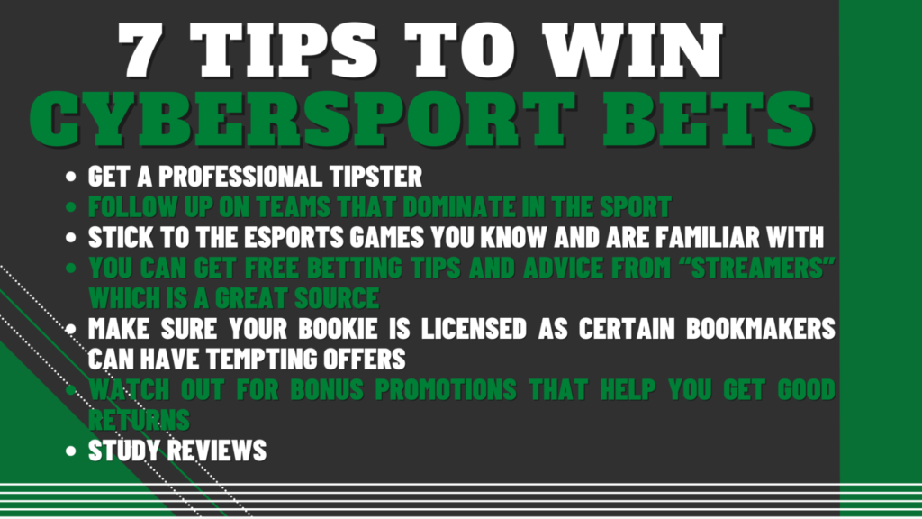 7 Tips to Win Cybersport Bets